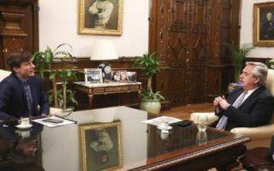 Lucas Ghi se reunió con el Presidente Alberto Fernández