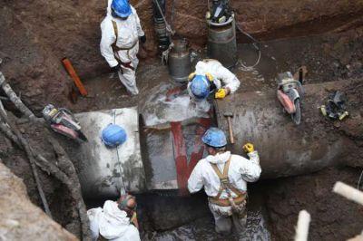 AySA renueva la cañería había sido rota por una obra de gas en General Pacheco