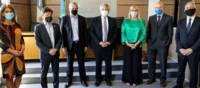 Alberto Fernández y Ferraresi inauguraron las obras destinadas al Departamento Judicial de Avellaneda/Lanús