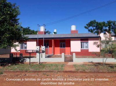 IPRODHA convoca a inscribirse para viviendas disponibles en Jardín América