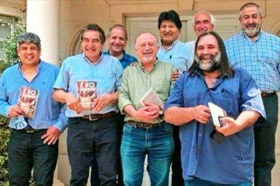Evo Morales logró lo que no pudo conseguir hasta ahora Alberto Fernández: reunir a referentes de las tres centrales obreras