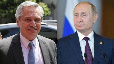 Alberto Fernández hablará mañana con Vladimir Putin por la compra que la Argentina hará de la vacuna rusa contra el coronavirus