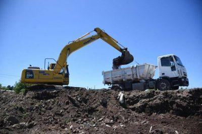 Tras el desalojo del predio, retoman la construcción del retén hídrico en Los Hornos