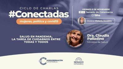 Palladino, junto al vicegobernador en el cierre de #Conectadas