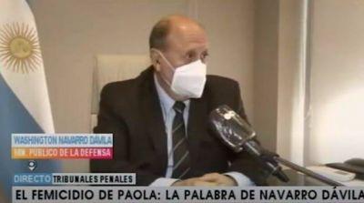 Navarro Dávila recordó cuando recibió las denuncias de Paola y aseguró que había pruebas suficientes para actuar