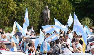 La Plata fue epicentro de un nuevo banderazo en contra del Gobierno nacional