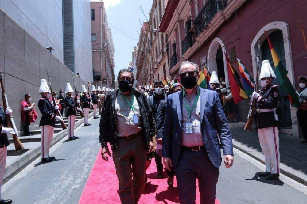 """Godoy estuvo en la asunción de Arce en Bolivia con criticas a EEUU y a la """"oligarquía reaccionaria"""""""