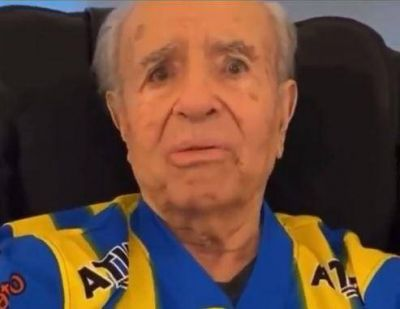 Reapareció Carlos Menem y dejó un mensaje para un club riojano