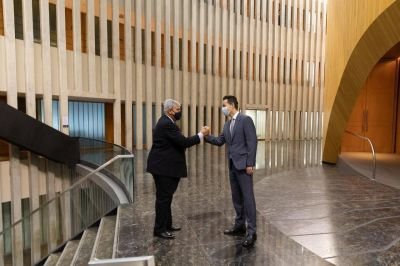 Calvo y Haquim estrechan lazos para seguir trabajando en conjunto