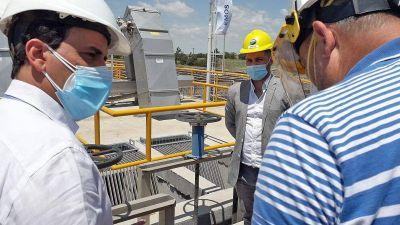 Llamosas habilita el tratamiento primario de la nueva planta cloacal