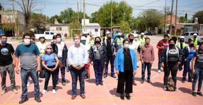 Cascallares lanzó programas ambientales junto al OPISU y cooperativas en Don Orione