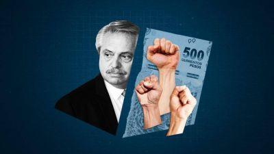 Alberto Fernández se topa de nuevo con el sindicalista