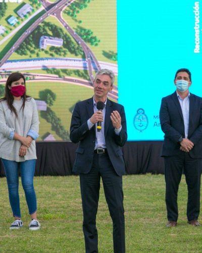 El ministro Meoni anunció obras para dos viaductos en Cañuelas