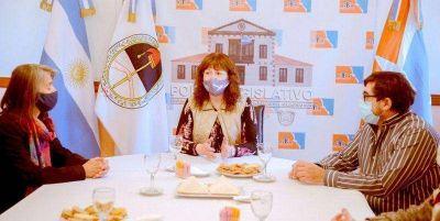 Urquiza se reunió con la Biblioteca Popular Sarmiento