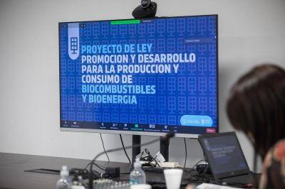 Legislatura: ministros provinciales presentaron proyecto de Biocombustibles