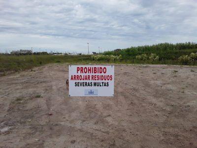 Ante reclamos de vecinos, se limpió el basural clandestino en Rodríguez Peña al 2500