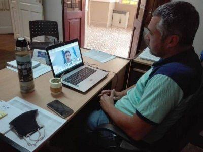 Temporada de Verano: Aramberri participó de una reunión de trabajo con Augusto Costa