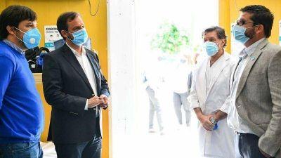 Sujarchuk y Kreplak mantuvieron una reunión de trabajo y recorrieron el Hospital Provincial Erill