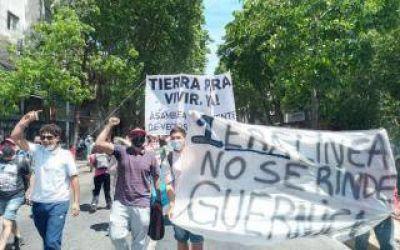 Presidente Perón: Impulsados por sectores de izquierda, desalojados de Guernica marchan para reclamar por tierras