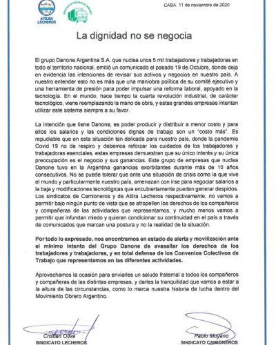 Gremio de Camioneros y Lecheros en estado de alerta y movilización