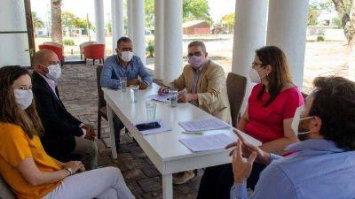 Jalil se reunió con el intendente por obra de cloacas en Ancasti, Anquincila y La Majada