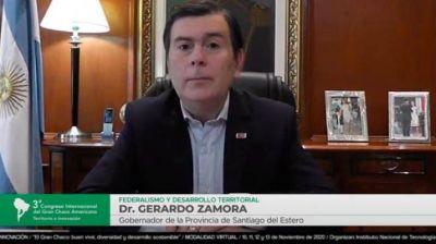 """Zamora: """"Es fundamental el desarrollo armónico de todo Santiago"""""""