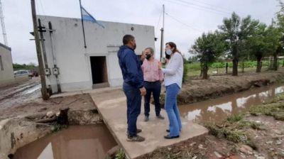Familias del sur tucumano afectadas por el temporal y recibieron ayuda