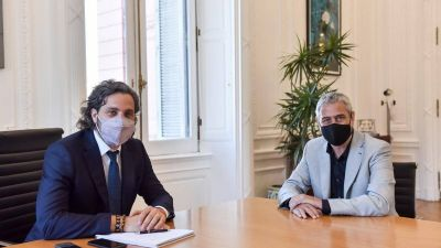 Cambio en el gabinete: Ferraresi se reunió con Cafiero