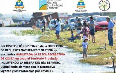 Habilitan la pesca recreativa de costa en todo el territorio provincial