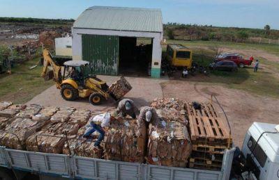 Villa Ángela: la Municipalidad vendió 23 toneladas de cartón reciclado