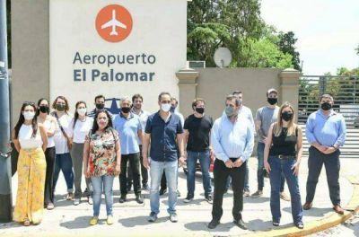 Tagliaferro participó de la convocatoria para apoyar al aeropuerto de El Palomar