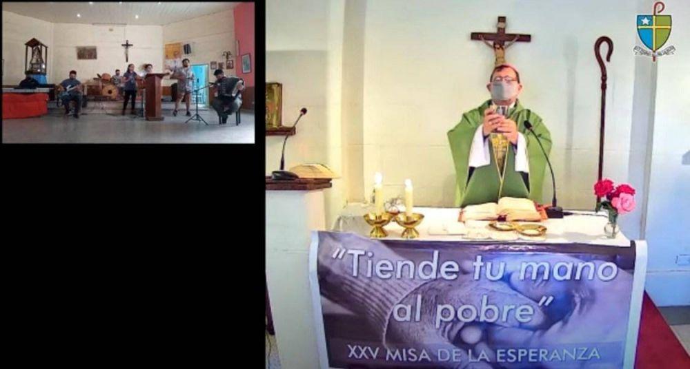 Se realizó de manera virtual la XXV° Misa de la Esperanza y el Papa Francisco saludó a la Diócesis de Quilmes