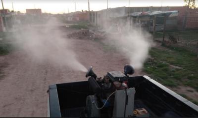 Siguen los trabajos de fumigación contra los mosquitos