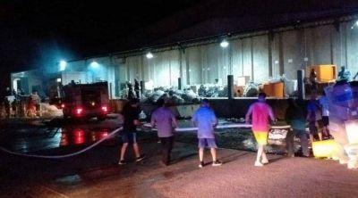 Voráz incendio en Algodonera del Valle deja dos operarios hospitalizados