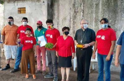 La Iglesia cedió un predio parroquial para el trabajo organizado de familias rurales
