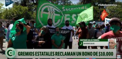 ATE reclama al Gobierno un bono de $ 10.000 para los estatales tucumanos