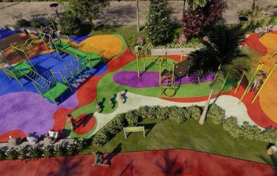 Juan Andreotti anunció la construcción de un parque sobre el entubado zanjón Fate