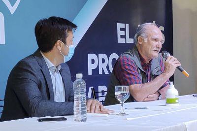 Rojas participó en la asunción de Álvaro como presidente de Puerto Quequén