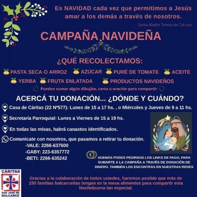 Cáritas San José lanzó su Campaña Navideña