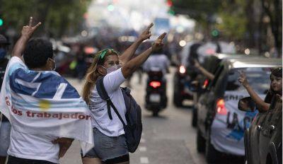 Con una caravana, el Frente Sindical reforzó su perfil oficialista y mostró respaldo social al tributo de las grandes fortunas