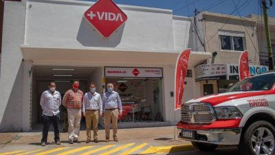 Abella celebró la llegada de una nueva empresa de salud a Campana