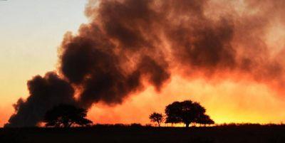 En La Pampa por la sequía hay 4,6 millones de hectáreas en riesgo de incendio
