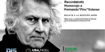 La FEDUN organizará un acto homenaje a Pino Solanas