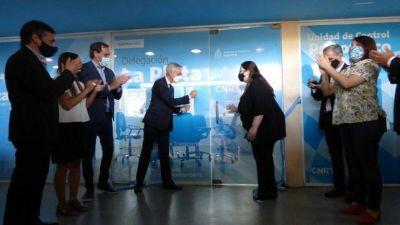 Oficinas nuevas y espacio de lactancia: la CNRT realizó un concurrido acto en La Plata
