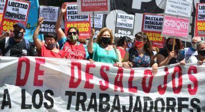 Marcha del Polo Obrero por las detenciones durante el desalojo en Estación Ferreyra