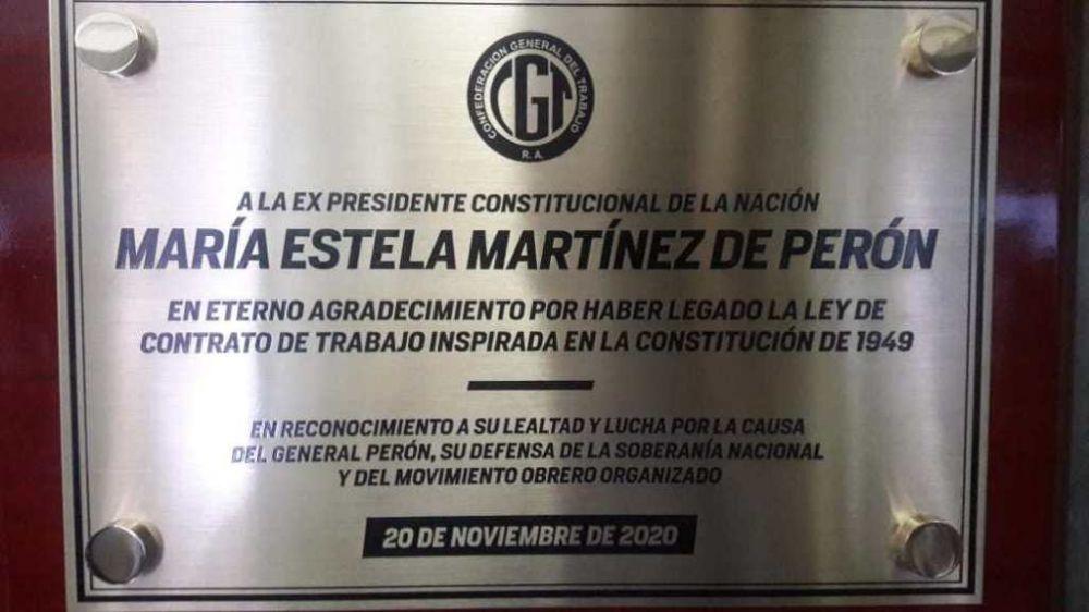 Reapareció Isabel Perón con un mensaje histórico para la CGT y los trabajadores