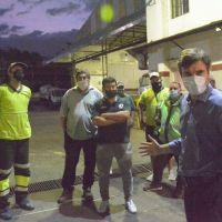 """Ghi con delegado de Urbaser por la vuelta de """"Día Verde"""""""
