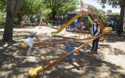 Cuarentena en San Isidro: Habilitó juegos infantiles y aparatos de actividad física de las plazas
