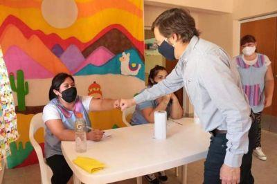 Jaime Méndez visitó uno de los Centros de Primera Infancia