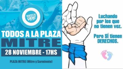 "Convocan a una marcha a favor de las ""2 vidas"""